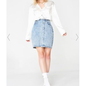 Levi's Button Through Mom Skirt